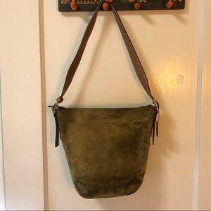 Coach Vintage Forest Green Hobo Tote Bucket Bag